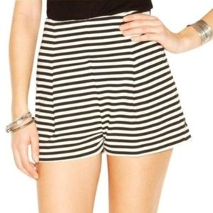 Free People Ricker High Rise Striped Ponte Shorts